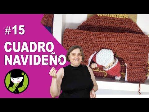 chimenea a crochet 15 forma parte del cuadro navideño tejido amigurumi