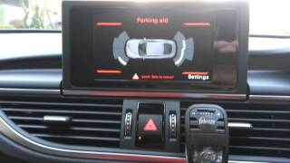 Audi A7 2015 Reverse Camera Moving Guide Lines