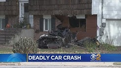 Teen Killed, 3 Others Injured When Car Hits House In Plainview
