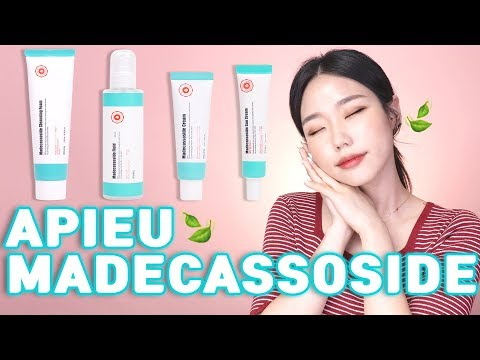 Apieu's Madecassoside Line 4 Products Review! Calm And Moisturize Your Skin🍃