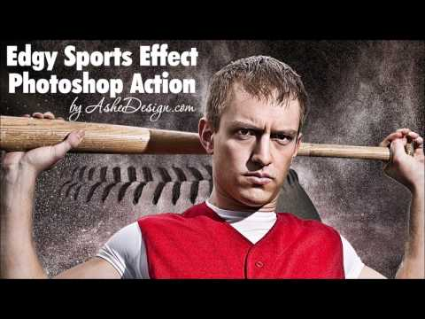 Edgy Sports Effect Photoshop Action