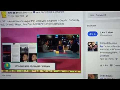 Divya Narendra at New York Stock Exchange on Cheddar describing SumZero! Sept. 21, 2016
