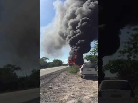 Incêndio destrói outro ônibus da Novo Horizonte. Vídeo.