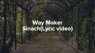 Sinach - Way Maker with lyrics (Gospel)