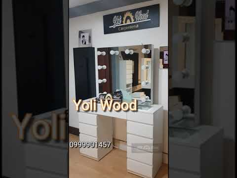 Coqueta make up ( Vanity ) con tirador integrado Yoli Wood carpinteria en general