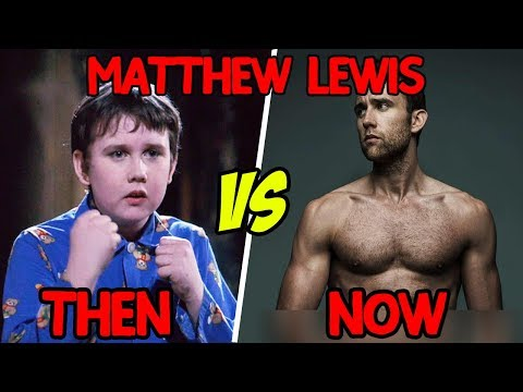 Then vs Now  Matthew Lewis  Neville Longbottom in Harry Potter