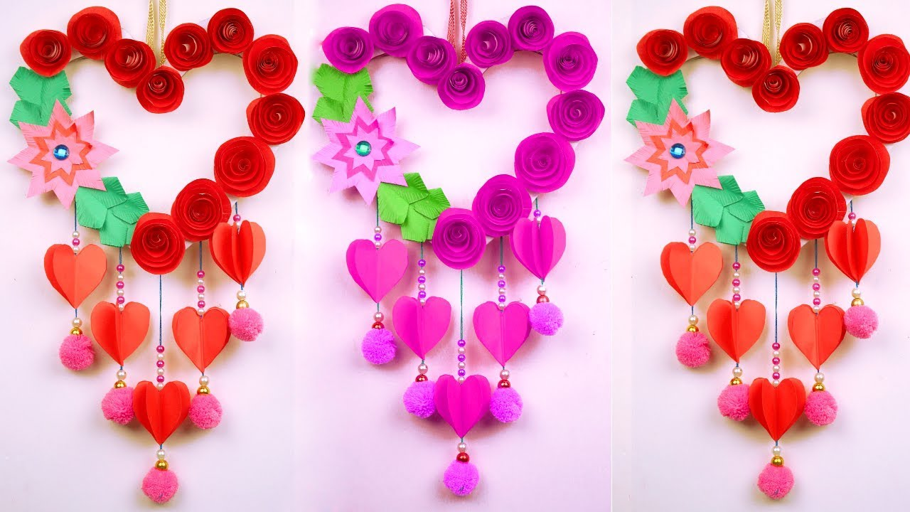 Easy paper crafts for home decoration   Paper craft wall hanging for diwali