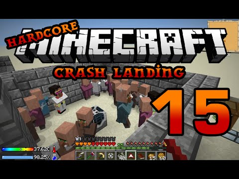Iskall's Hardcore Minecraft Crash Landing 15 - Villagers automation and Auto spawner