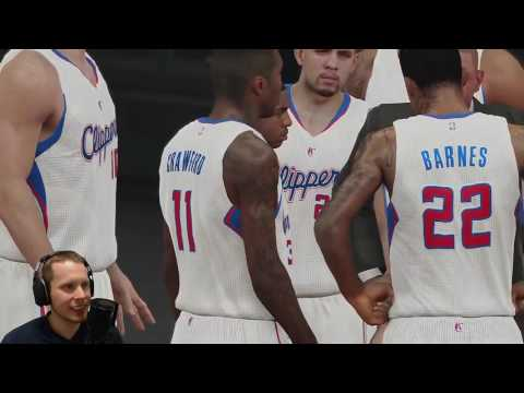 ♂  NBA2k15 Twitch/Youtuber Team-Up: Spurs vs Clippers Highlights