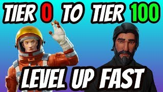 Fortnite How To Get Tier 100 and Level 100 FAST! Fortnite Level Up FAST (Battle Royale Starter Tips)
