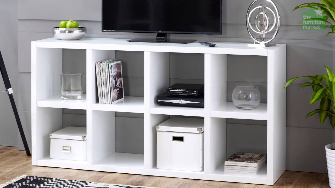 High Gloss 8 Square Tall Wide Bookcase