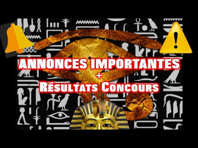 ⚠️ ANNONCES IMPORTANTES (+ Résultats Concours 1000 abonné.e.s) 🔔