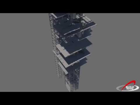 HD Laser Scan of Shaft Headframe Oyu Tolgoi