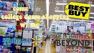 college dorm shopping vlog// bed bath & beyond, best buy, etc.📚