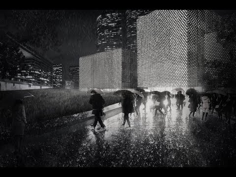 Architecture render post production- Rain night scene tutorial.