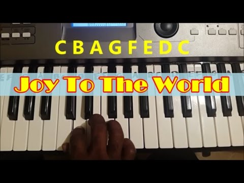 How To Play Joy To The World. Easy Piano Keyboard Tutorial