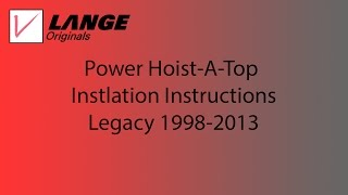 power hoist a top power unit installation instructions legacy 1998 2013