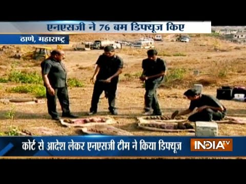 NSC commandos diffuse 76 bombs recovered from a scrap businessman in Thane