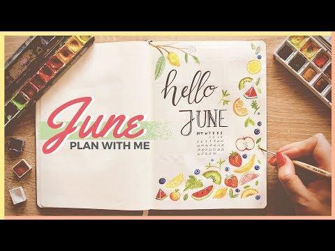 Plan With Me!   June 2017 Bullet Journal Setup Ideas