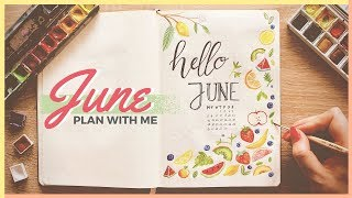Plan With Me! | June 2017 Bullet Journal Setup Ideas
