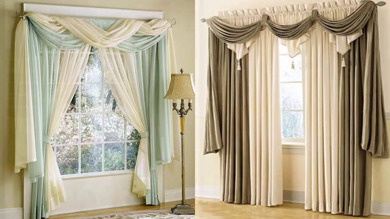 60 ideas de cortinas hermosas para decorar youtube for Ideas cortinas salon