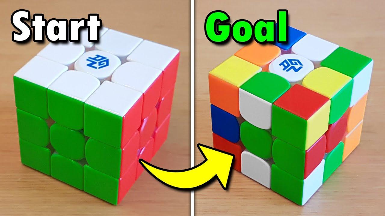 """Solving"" a Rubik's Cube Backwards Challenge"