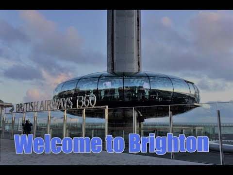 A trip on the Brighton I360 and views of Brighton Seafront 2017