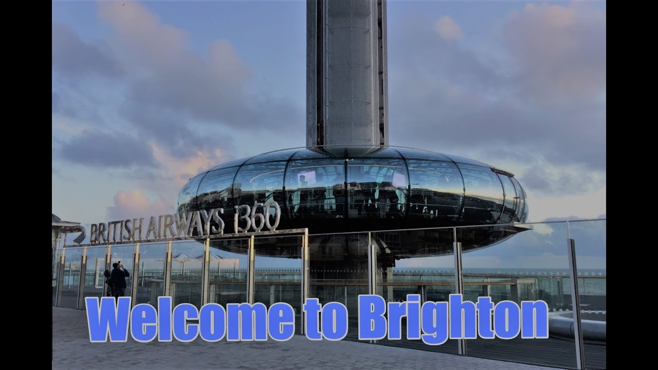 A trip on the Brighton I360 and views of Brighton Seafront 2017 ...
