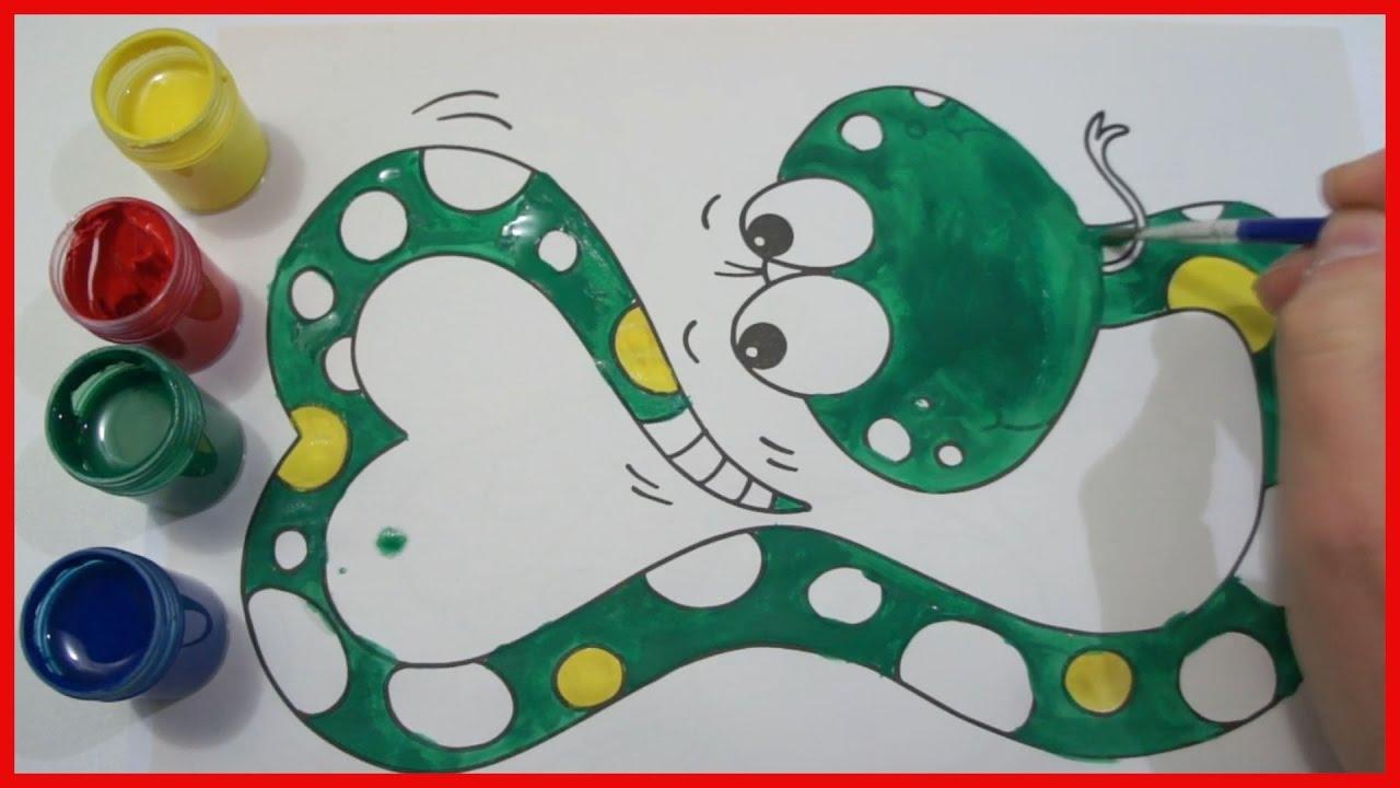 apprendre a colorier un serpent dessin pour enfant learns