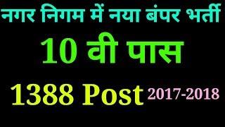नगर निगम में बंपर भर्ती 2017-2018 | Latest Government jobs 2017-2018 | Latest Sarkari Naukri | job