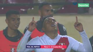 Perú vs. Costa Rica 1-0 | RESUMEN y GOL de Christian Cueva del partido amistoso