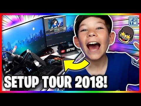 Kid Gaming Setup 2018 Tour | 10 Year Old YouTuber | Fraser2TheMax Setup (2018)