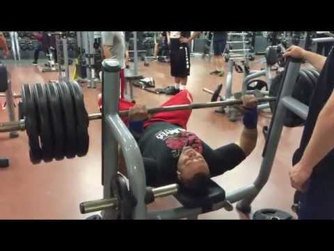 495 Pound Bench Press For Reps RAW