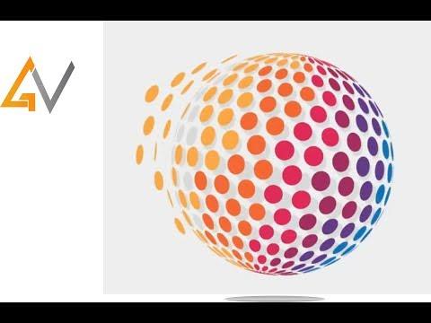 Adobe Illustrator CC | 3D Logo Design Tutorial | Graphics Vision thumbnail
