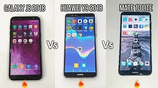 Samsung Galaxy J6 2018 Vs Huawei Y9 2018 Vs Mate 10 Lite Speed Test!