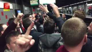 Arsenal Fans on The Brussels Metro