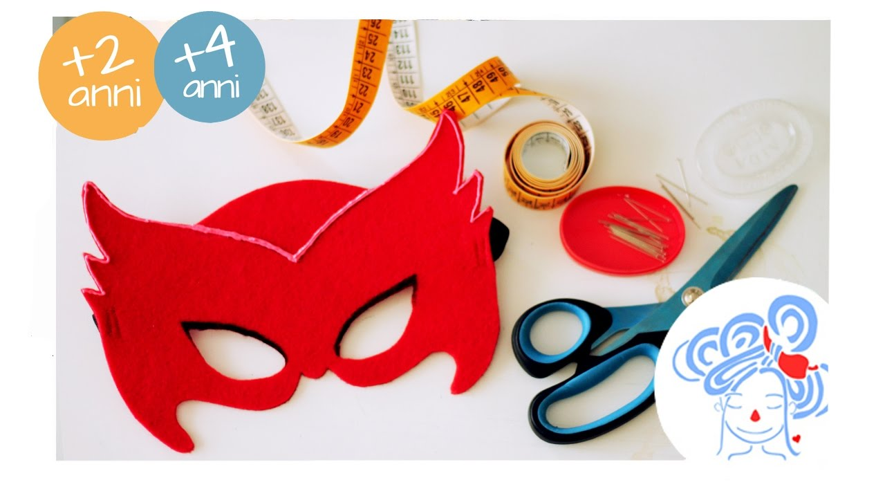 Owlette Mask Mascherina Di Gufetta Tutorial Youtube
