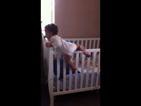 Baby Boy climbing out of crib 14 month old