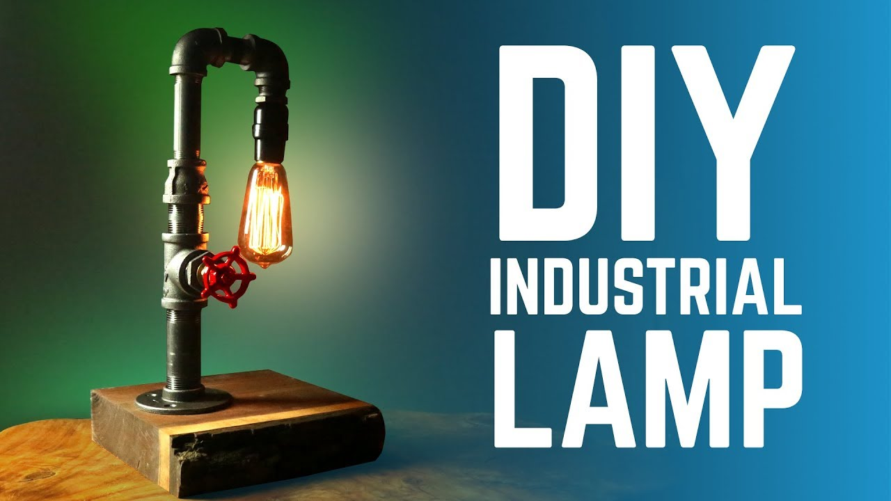 Diy Industrial Lamp With Faucet Switch How To Youtube Southwestern Table Lamps Light Socket Parts Diagram