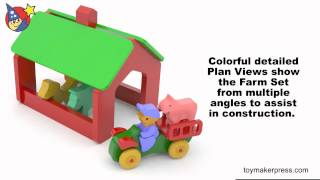Wood Toy Plans - Barn, Animals & Tractor Farm Set