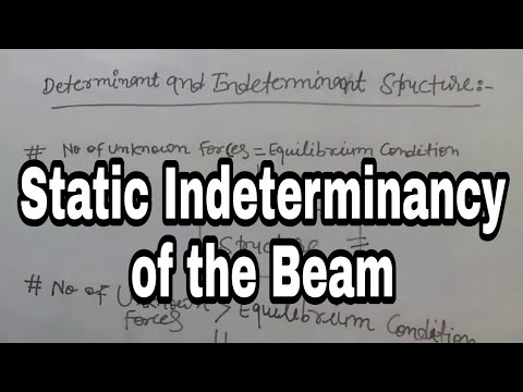How to find Static Indeterminacy of beam in Hindi/Urdu by Azhar Siddiqui । Study Channel