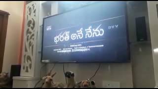 Bharat ane nenu teaser on 61 inch television
