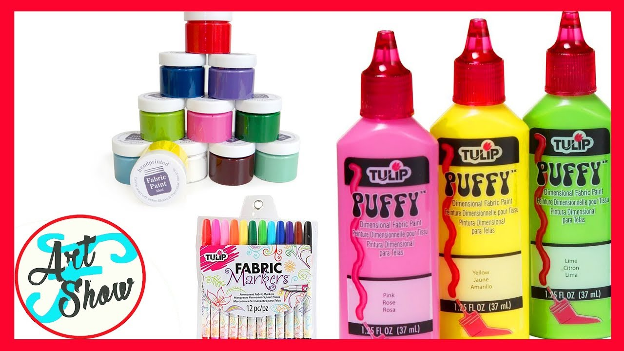 Different Types Of Fabric Paints Fatema S Art Show Youtube