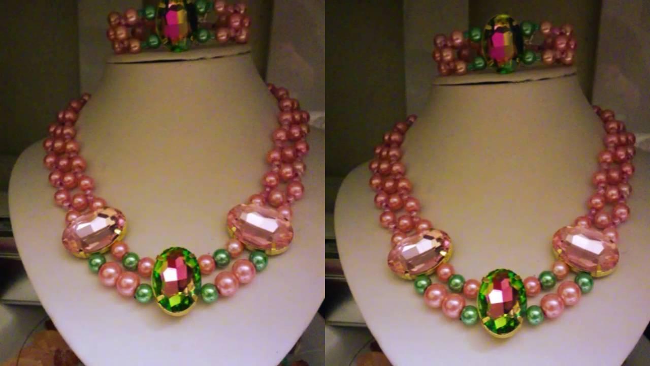 ec1830e200e3 Collares de perlas hechos a mano - YouTube