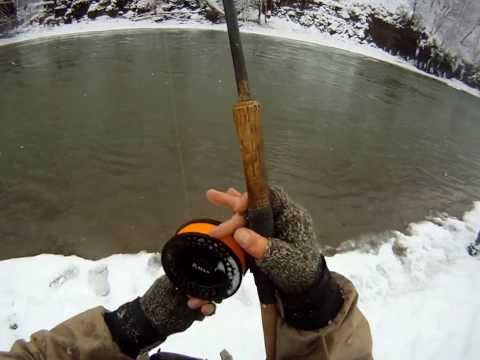 Floatfishing for Steelhead in the Snow