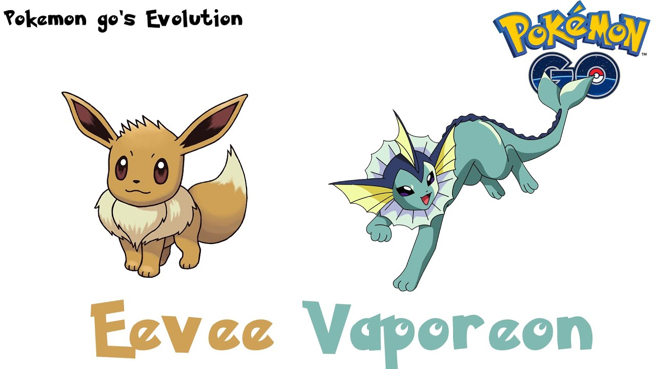 pokemon go u0027s evolution eevee evolves into vaporeon youtube
