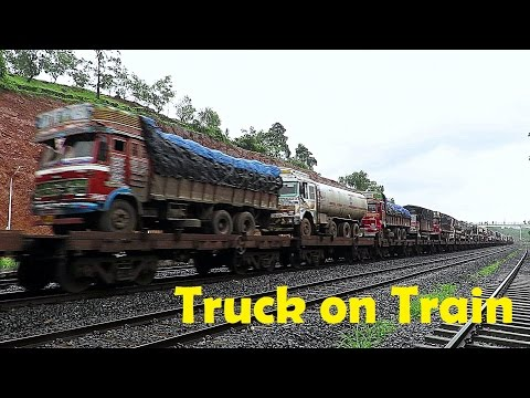 SPECIAL FREIGHT OF IR ! RO-RO SERVICE AKA TRUCK ON TRAIN