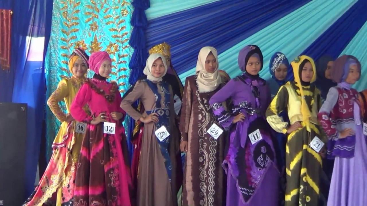Pesona Model Sasirangan Motif Katupat Kandangan 2016 Babak Seleksi