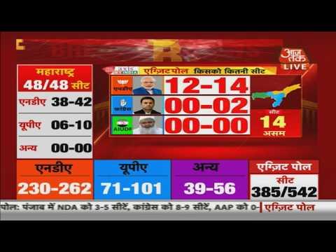 बाहर निकलें पोल 2019: भारतीय जनता पार्टी के लिए 12-14 सीटें असम कांग्रेस 0-2 सीटें में