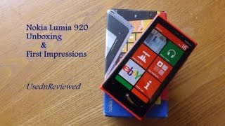Nokia Lumia 920 Unboxing and First Impressions